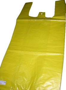 Plain T-shirt Bag Yellow