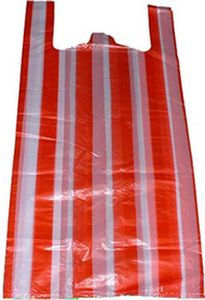 Stripe T-shirt Bag Red/White