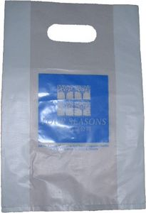Patch Handle Carrier Bag Semi-Clear