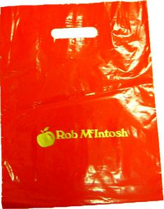 Kidney Cut Carrier Bag Red