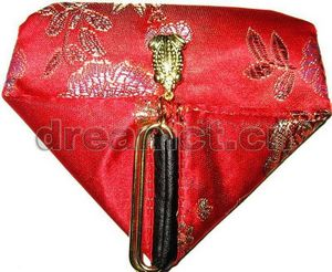 Sweet Heart Brocade Pouch Red
