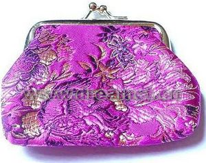 Brocade Wallet Purple