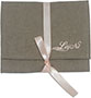 Cotton envelope with ribbon, with custom logo.