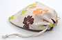 Custom Linen Drawstring Bags Jewellery Pouches with Multicolored All Over Print