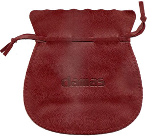 Debossed Round Leather Pouch