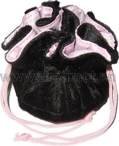 Faux Fur Circle with Satin Lining Black
