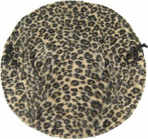 Faux Fur Circle with Satin Lining Leopard