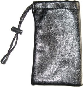 Faux Leather Pouch Black