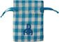 Gingham Cotton Bag Blue