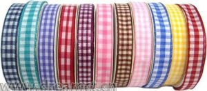 Polyester Satin Gingham Ribbon