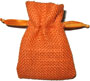 Personalized Hessian Burlap Jewelry Bags with Drawstring, Orange