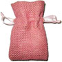Personalized Hessian Burlap Jewelry Bags with Drawstring, Pink