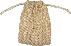Personalized Jute Hessian Favor Bags with Drawstring
