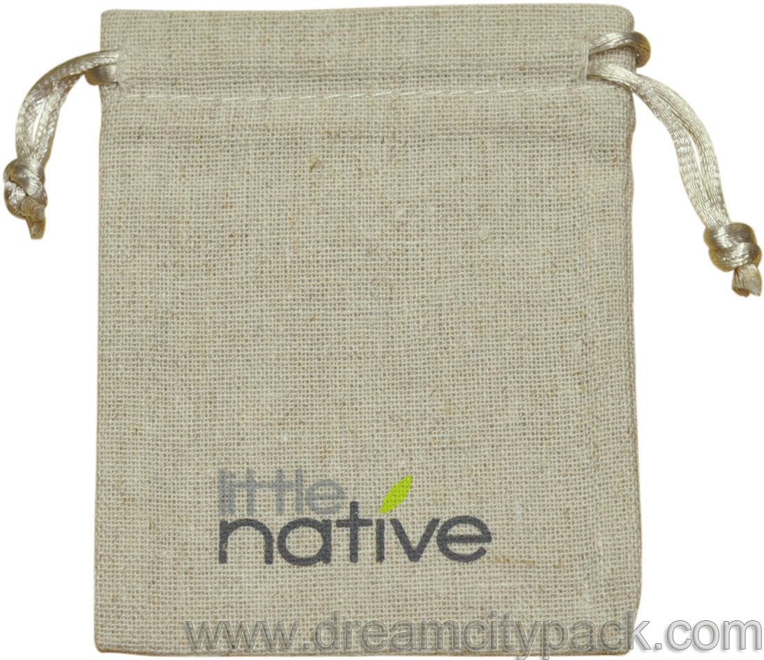 Custom Natural Linen Drawstring Bag Wholesale
