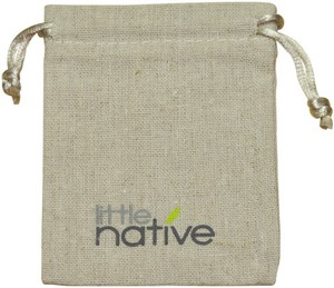 Natural Linen Drawstring Bag