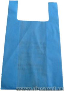 Nonwoven T-shirt Bag Blue