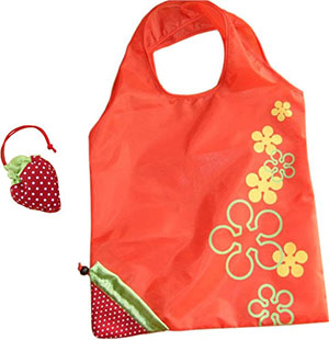 Strawberry Foldable Nylon Tote