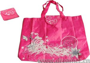 Printed Collapsible Nylon Tote Bag