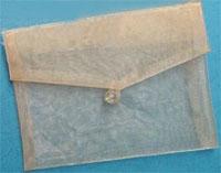 Plain Organza Envelope Ivory