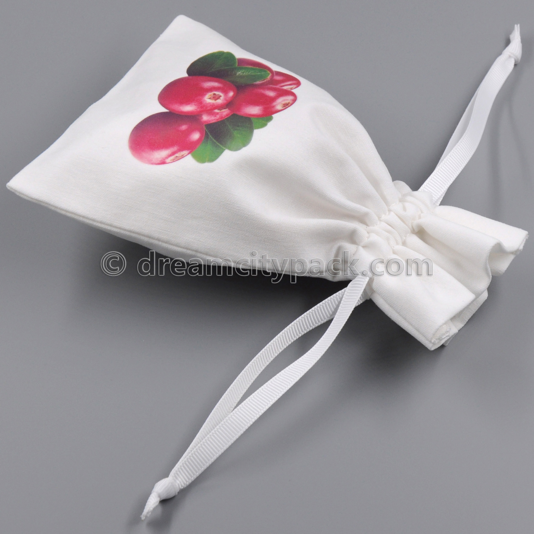 Eco-friendly Organic Cotton Muslin Drawstring Bags with Personalized Multicolored Logo
