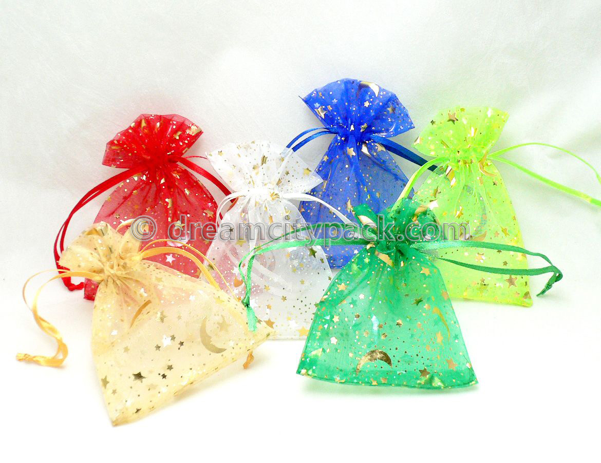 Organza Bags with Hot-stamping Pattern 1