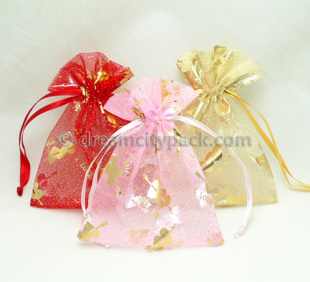 Organza Bags with Hot-stamping Pattern 2
