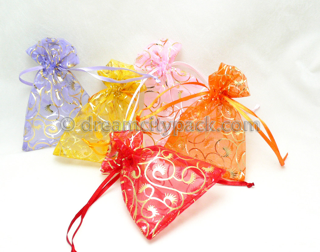 Organza Bags with Hot-stamping Pattern 3