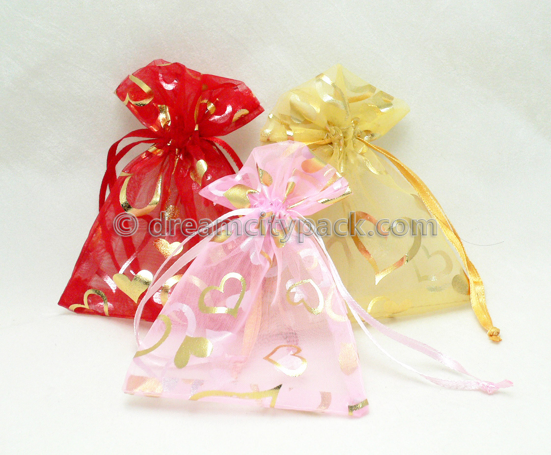 Organza Bags with Hot-stamping Pattern 4