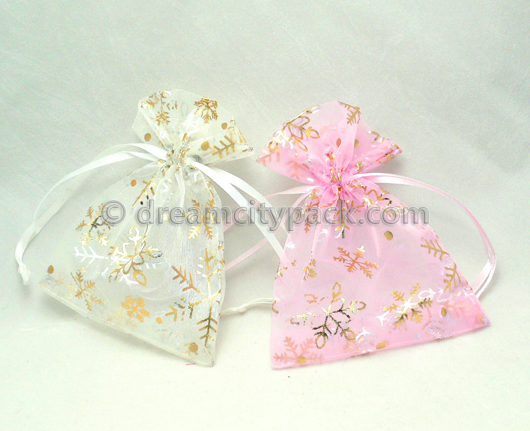 Organza Bags with Hot-stamping Pattern 6