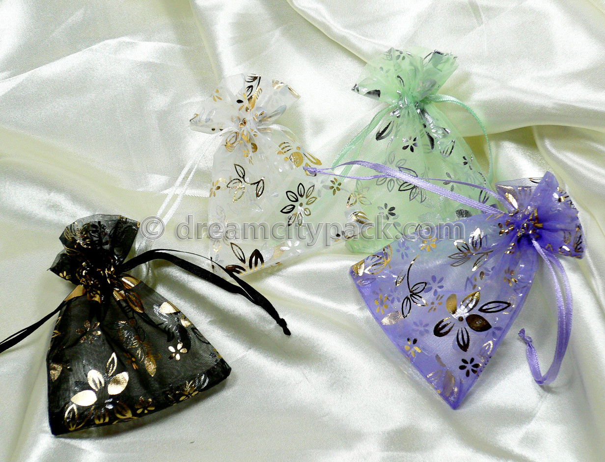 Organza Bags with Hot-stamping Pattern 8