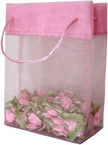 Organza Mini Tote Bag Pink