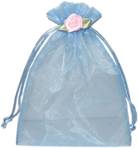Organza Pouch with Rosette