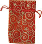 Organza Pouch Red w/ Stars and Swirls