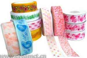 Organza Ribbon with Assorted Print