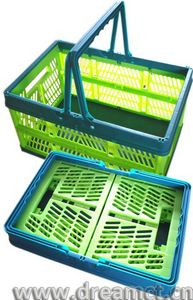 Plastic Collapsible Market Tote Basket