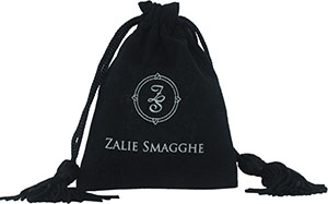 Cotton Drawstring Bags with Tassels and Custom Printed Logo