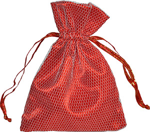 Custom Satin and Mesh Drawstring Bag for Jewelry and Favors