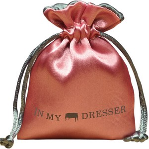 Printed Satin Jewellery Pouches with Satin Lining and Custom Logo