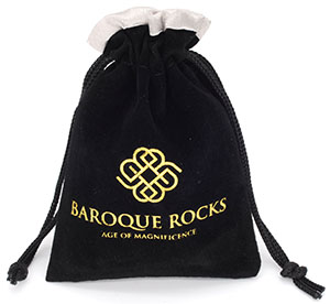 Personalized Satin Lined Velvet Jewelry Bags with Hot-stamping