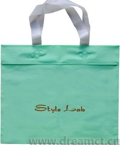 Soft Loop Handle Bag with Ziplock and Bottom Gusset