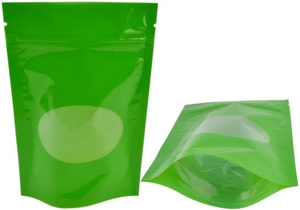 Colorful Stand up Ziplock Bag w/ Window