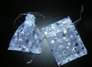 Starred Organza Bag White