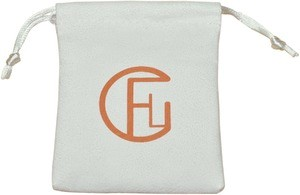 Suede Drawstring Bags with Custom Logo