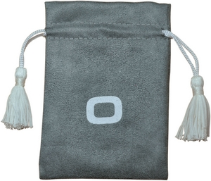 Suede Drawstring Bag with Tassels