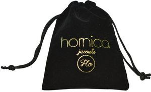 Velvet Drawstring Bag with Gold Foil Printing