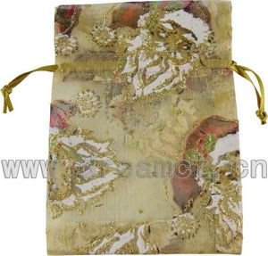 Christmas Organza Bag Gold