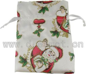 Christmas Satin Bag White