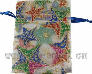 Christmas Organza Bag Stars
