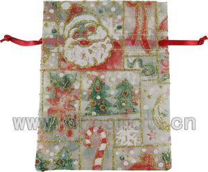 Christmas Organza Bag White