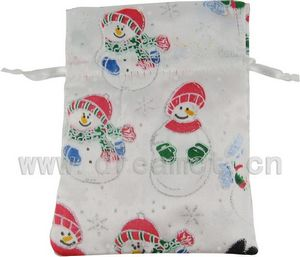 Christmas Satin Bag Snowman